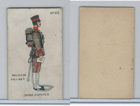 E7 Caramel, Soldier Cards, 1910, #20 Japan Dispatch