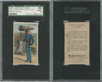 T81 Recruit, Military, 1908, Coast Artillery USA, SGC 50 VGEX