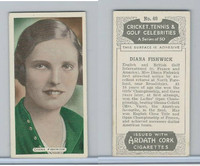 A72-18a Ardath, Cricket, Tennis, Golf Celeb., 1935, #49 Diana Fishwick
