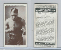C82-34 Churchman, Boxing Personalities, 1938, #17 Larry Gains