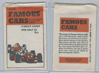 D0-0 Deposito, Famous Cars, 1971, Wrapper Top Sellers