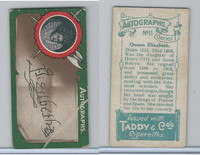 T6-4 Taddy Cigarettes, Autographs, 1912, #11 Queen Elizabeth