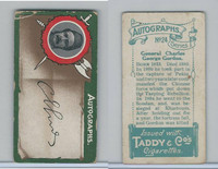 T6-4 Taddy Cigarettes, Autographs, 1912, #24 General Charles G Gordon