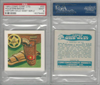 C0-0 Como, History Wild West, 1963, #33 Holsters & Badge, PSA 9 Mint