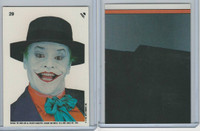 1989 Topps, Batman Movie Sticker, #29 The Joker