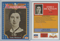 1992 Starline, Americana, #103 Emily Dickinson
