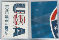 2001 Topps, Enduring Freedom Sticker, #2 USA Home Of The Brave