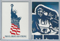 2001 Topps, Enduring Freedom Sticker, #4 Proud, Brave, And Strong