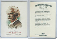 2007 Topps History Cards, Allen & Ginter, #108 Mark Twain