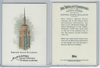 2008 Topps, Allen & Ginter Champions, #29 Empire State Building
