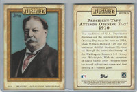 2010 Topps, History Of The Game, #HOTG6 President Taft, Baseball