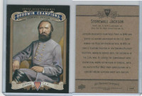 2012 Upper Deck, Goodwin Champions, #166 Stonewall Jackson, General