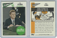 2012 Topps Heritage News Flashbacks, #NF-UC Kennedy Cuba Closed