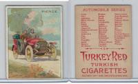 T37 Turkey Red, Automobile Series, 1910, Pierce