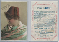 N Card, Old Judge, Goodwin, 1880's, Woman  With Purple Hat