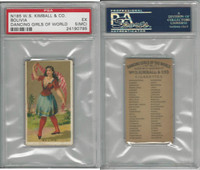 N185 Kimball, Dancing Girls of the World, 1889, Bolivia, PSA 5 MC EX