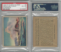 R173 Gum Inc, The World In Arms, 1939, #2 French Battleship, PSA 4 VGEX