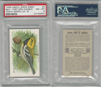 J9-6, Church & Dwight, Useful Birds 10th, 1925, #2 Warbler, PSA 8 NMMT