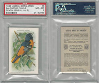 J9-6, Church & Dwight, Useful Birds 10th, 1925, #8 Oriole, PSA 8 NMMT