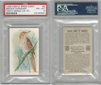 J9-6, Church & Dwight, Useful Birds 10th, 1925, #9 Thrasher, PSA 8 NMMT