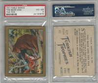 T57 Turkish Trophies, Fable Series, 1910, The Bear andThe Fox, PSA 4 VGEX