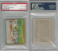 T69 Helmar, Historic Homes, 1910, Home, James Madison, PSA 4 VGEX