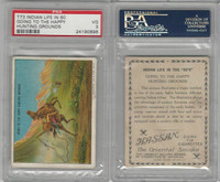 T73 Hassan, Indian Life, 1910, Going to Happy Hunting Grounds, PSA 3 VG