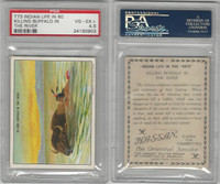 T73 Hassan, Indian Life, 1910, Killing Buffalo in the River, PSA 4.5 VGEX+