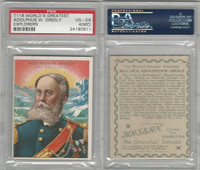 T118 Hassan, World's Greatest Explorers, 1910, Adolphus Greely, PSA 4 MC VGEX