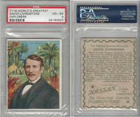 T118 Hassan, World's Greatest Explorers, 1910, David Livingstone, PSA 4 VGEX