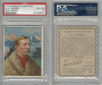 T118 Hassan, World's Greatest Explorers, 1910, S.A. Andree, PSA 4 VGEX