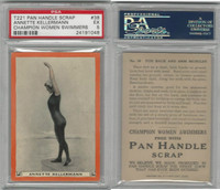 T221 Pan Handle Scrap, Champion Women Swimmers, 1910, #38, PSA 5 EX