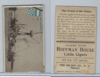 T40 Hoffman House Little Cigars, Battleships, 1910, #25 Wreck of the Maine