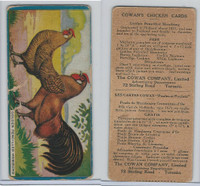 V12 Cowan, Chicken Cards, 1924, Golden Pencilled Hamburg