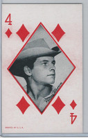 W Card, Western Playing Card, 1950's, Peter Brown
