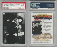 1997 Duocards, Three Stooges, #1 Three Stooges, PSA 9 Mint