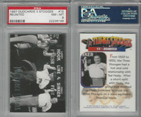 1997 Duocards, Three Stooges, #15 Reunited, PSA 8 NMMT