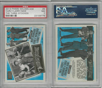 2013 Panini, Three Stooges, #9 Curly, Larry, Moe, PSA 7 NM