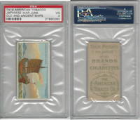 T418 American Tobacco, Old And Ancient Ships, 1910, Japanese War Junk, PSA 3 VG