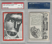 1963 Rosan W528-5, Famous Monsters, #31 The Voo Doo Man, PSA 8 NMMT