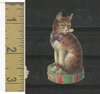 Victorian Diecuts, 1890's, Cats, Sititng on Box (4)