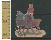 Victorian Diecuts, 1890's, Circus & Fairs, Monkey Riding Horses (2)
