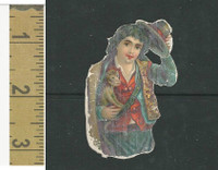 Victorian Diecuts, 1890's, Circus & Fairs, Boy With Monkey (4)