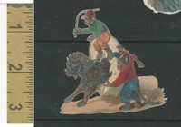 Victorian Diecuts, 1890's, Circus & Fairs, Monkey Riding Lion (5)