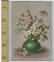 Victorian Diecuts & Cards, 1890's, Holidays, New Year, Flower Vase (1)
