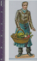 Victorian Diecuts, 1890's, Occupations, A Green Grocer (1)