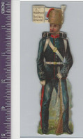 Victorian Diecuts, 1890's, Soldiers, British, 3rd Middlesex Artillery (69)