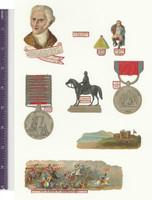 Victorian Diecuts, 1890's, World History, Wellington, Napoleon, Waterloo (P1)