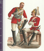 Victorian Diecuts, 1890's, Soldiers, British Officers On Bench (P11)