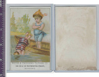 Victorian Card, 1890's, Boston & Providence Clothing, Children Swimming